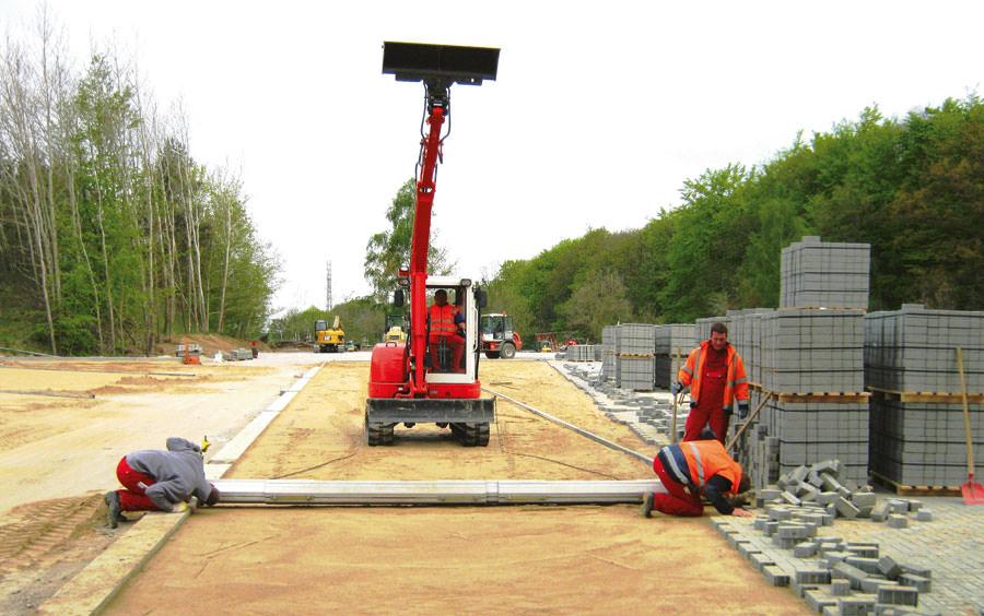Arbeiten der Tell Bau GmbH Niederlassung Sellin auf der Insel Rügen